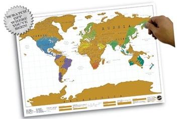 Scratch Map - Kraskaart: je persoonlijke wereldkaart!| NU € 16,95  | Luckies